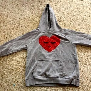 Valentines day hoodie for girls